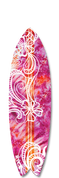 Surfboard graphic pink lava design