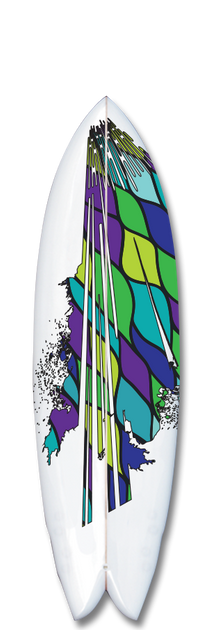 Mind Blower Surfboard Graphic.