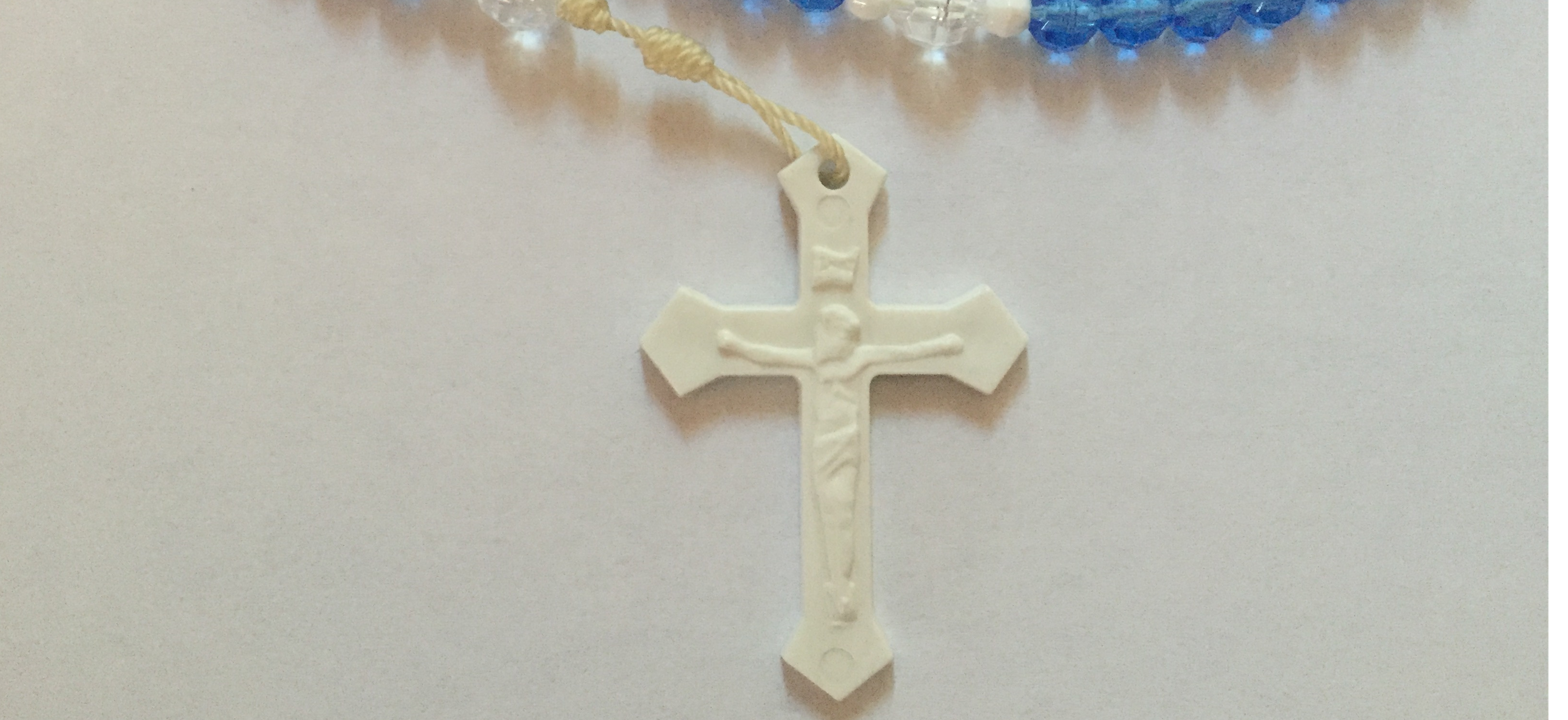 White Plastic Crucifix