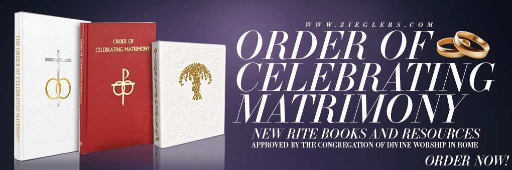 Buy New Revised Order of Matrimony Rite Books and Resources for Catholic Weddings preparations with new Liturgy
