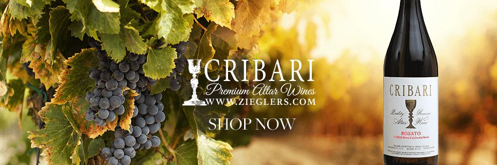 Shop and Buy Cribari Premium Sacramental Communion Altar Wine For Eucharistic Mass Celebration Precious Blood of Christ at ZIeglers Catholic Store