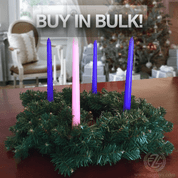 Advent wreath with greenery decor for home DIY and church projects that includes free advent candles buy in bulk for great savings ADVENTSET2