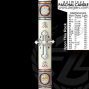Made to Order Paschal Candle Upon This Rock design For Easter by Cathedral Candle 51 percent beeswax Eximious collection in variety of size hand made