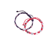 Holy Spirit Bracelet Dove and Cross Medals on Cord Available in 2 Colors Black and Red MJWHS