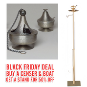 Black Friday Deal | ZZ2687 Censer & Boat | With 50% OFF Stand