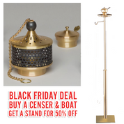 Black Friday Deal | ZZ2634 Censer & Boat | With 50% OFF Stand