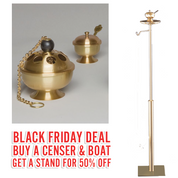 Black Friday Deal | ZZ2665 Censer & Boat | With 50% OFF Stand