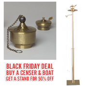 Black Friday Deal | ZZ2672 Censer & Boat | With 50% OFF Stand