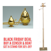 Black Friday Deal | ZZ2680 Censer & Boat | With 50% OFF Stand