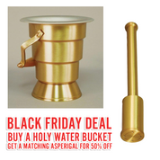 Black Friday Deal | ZZ641 Holy Water Bucket | With 50% OFF matching Asperigal