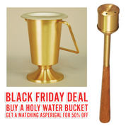 Black Friday Deal | ZZ643 Holy Water Bucket | With 50% OFF matching Asperigal