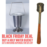 Black Friday Deal | ZZ723 Holy Water Bucket | With 50% OFF matching Asperigal