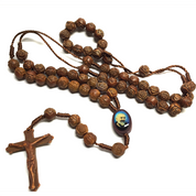 Padre-Pio-Rosary-with-Brown-Rose-wood-Beads-ZR7788R