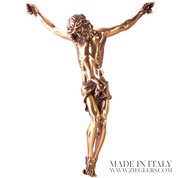 Corpus Only For Cross and Crucifix Bronze Satin and High Polish Texture clod cast bronze resin Made in Italy ZZBR