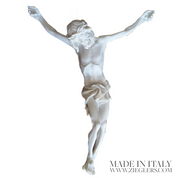 Corpus Only For Cross and Crucifix Wood Carve Look White Resin Finish Made in Italy ZZCW