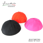 Zucchetto skull cap for priest bishop cardinal available in black church purple and red made of silk taffeta lined with cotton made in Italy