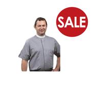 Clearance - Clergy Shirt | Neckband Collar | Short Sleeve | Toomey