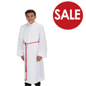 Clearance - Toomey Front Wrap Alb Altar Server Velcro Closure TO70