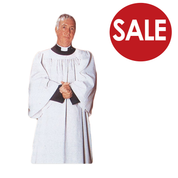 Clearance - Liturgical Surplice with Round Neck Design in a Polyester Blend TO884CL