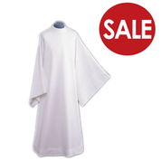 Clearance - Concelebration Alb Linen Style Polyester Blend TO75CL
