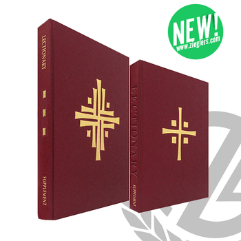 New Lectionary for Mass Supplement Classic or Chapel Edition with Burgundy Cover and gold stamped cross