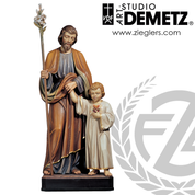 St Joseph with Young Jesus Statue Linden Wood or Fiberglass Available in 48 or 66 inches with choice of 3 finishes DM303