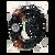 Soccer Sport Bracelet St Sebastian Medal Black Corded MABR73