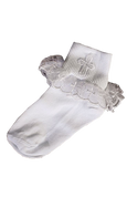 Socks with Cross and Lace First Communion 3 Sizes AGSC190