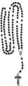 10 Decade Rosary with Black Wooden Beads From Italy COC2111410BK