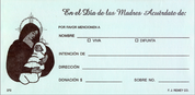 Mother's Day Spanish Offering Envelope in Box of 500 Count Style RE370