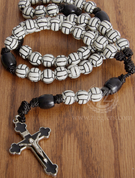 Rosary Volleyball Beads with Crucifix on Nylon Cord Prayer Guide ABJRVB