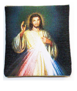 Rosary Case Divine Mercy Woven Tapestry Snap Closure From Italy EFDIVINE