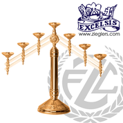 Altar Candelabra | 3, 5 or 7 Sconces | Bronze or Brass  |  Adjustable | 2409 | USA