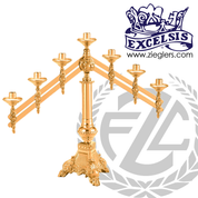 Altar Candelabra with Adjustable Arms Available in 3, 5 and 7 Lites Style 4669 Excelsis Made in USA