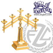 Altar Candelabra with Adjustable Arms Available in 3, 5 and 7 Lites Style 5369 Excelsis Made in USA