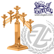 Altar Candelabra with Adjustable Arms Available in 3, 5 and 7 Lites Style 5379 Excelsis Made in USA