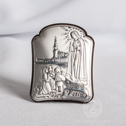 Our Lady of Fatima Micro Silver Plaque From Italy VAL810750L