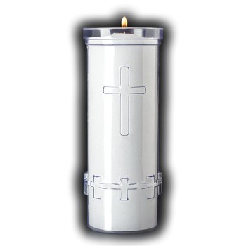 7 Day Divine Presence Light Plastic Container with Cross CC88387024