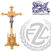 Altar Crucifix Available in Brass or Bronze Style 49925 Excelsis Made in USA