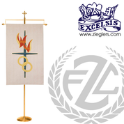 Banner Stand Available in Brass or Bronze Style 216193 Excelsis Made in USA