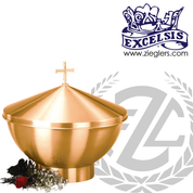 Baptismal Font available in 3 Sizes made of bronze with satin finish includes Lid With Cross and removable stainless steel basin made in u s a by pacific bronze PB1128137