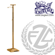 Thurible Stand in Bronze or Brass with 2 shelves and 2 hooks stands 53 inches high with square  Base made in u s a by progressive bronze PB53678