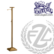 Thurible Stand in Bronze or Brass with 1 shelf and 2 hooks with square Base made in u s a by progressive bronze PB53778