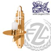 "Consecration Candleholder   3 Sizes   Bronze or Brass   1-1/2"" Socket   2519214   USA"