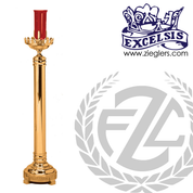 electric sanctuary lamp in brass or bronze with high polish or satin finish and red glass choice of 2 sizes made in u s a by pacific bronze PB43349EL