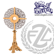 Two-Toned Monstrance standing 28 inches tall made of Bronze or Brass with Footed Base made in u s a by pacific bronze PB389146