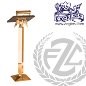 Lectern stands 42 inches high in Bronze or Brass with Eagle and Light on Square Base made in u s a by progressive bronze PB20033WL20033