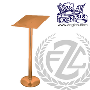 Standing Lectern made of bronze or brass with high polish or satin finish stands 45 inches high with optional light reflector made in  u s a by progressive bronze PB216163