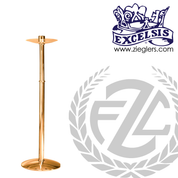 Processional candlestick stands 44 inches tall made of bronze or brass with high polish or satin finish and 12 inch base made in u s a by progressive bronze PB216175
