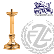28 inches Paschal candlestick available in brass or bronze with satin or high polish finish comes with 2 inch socket made in u s a by progressive Bronze PB245227PC